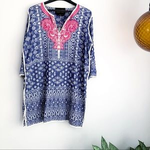 Soft Surroundings Label Noir embroidered tunic
